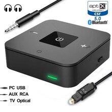 Bluetooth 5,0 CSR8670 Aptx низкая задержка Aux 3,5 мм RCA SPDIF оптический ТВ аудио передатчик приемник беспроводной музыкальный адаптер для ТВ