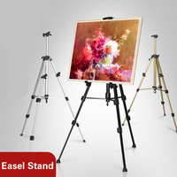 Foldable Easel Display Aluminum Alloy Easel Artist Sketch Watercolor Oil Painting Drawing Easel Stand Professional Art Supplies|Easels|Education & Office Supplies -