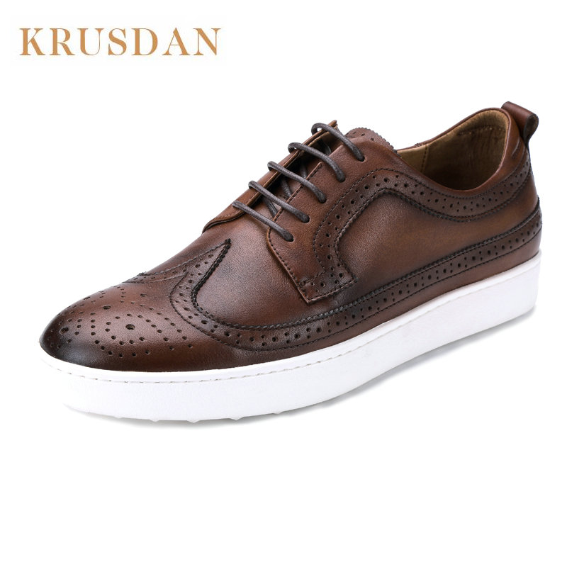 Men s 100 Genuine Leather Handmade Driving Shoes New Business oxford shoes for men Brand Design