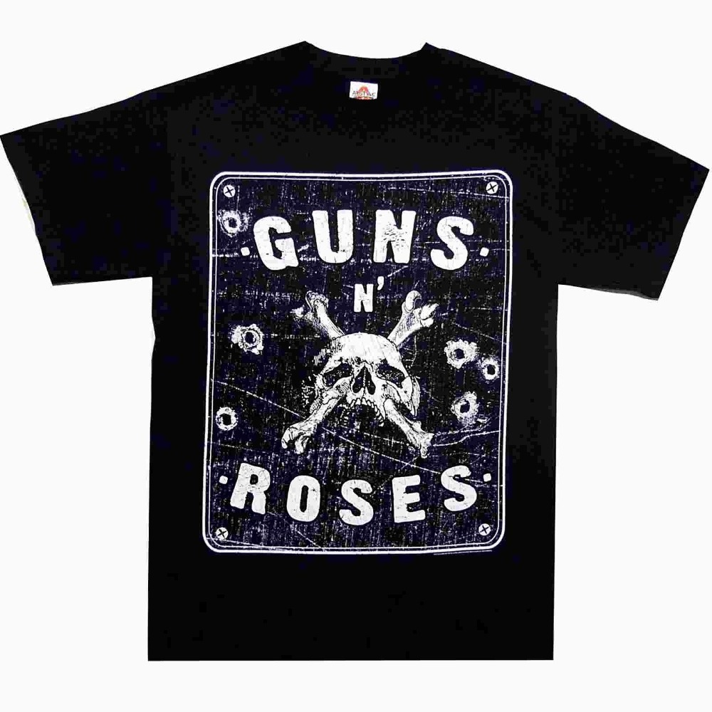 2018 Summer Style Guns N Roses Street Sign S M L XL Official T-Shirt Rock Band Tshirt NewSummer Style Casual Clothing