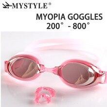 Prescription Glasses Men Women Optical Myopia 200-800 Degree Anti-fog Coated Water Diopter Swimming Goggles Eyewear