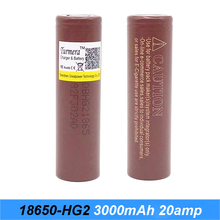 HG2 18650 3000mah font b electronic b font cigarette Rechargeable batteries power high discharge 20amp 18650