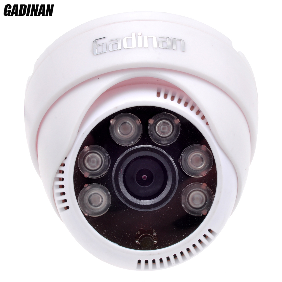 ФОТО GADINAN IP Camera Dome Indoor 6pcs Array LED Night Vision  IR-CUT Full HD 1080P HI3516C WDR Camera 0.01LUX CCTV IP ONVIF P2P