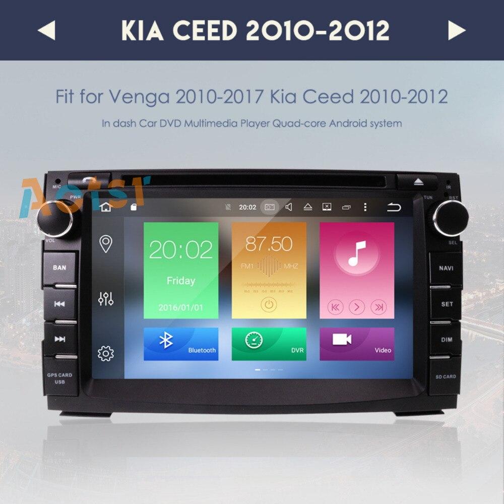 7 Octa CORE Date Android 8.0 Voiture DVD Stéréo Lecteur GPS Navigation Radio Recevez Pour KIA CEED CEE 2009 -2012 Venga 2009-2017