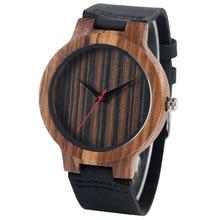 Relojes de los hombres de Madera de La Naturaleza De Bambú Mujeres Analógico Reloj Antiguo de la Correa de Cuero Genuino Regalo Hecho A Mano Creativo Reloj de madera