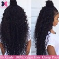 10А Класс Бразильские Волосы Волна Воды 4 Связки Влажную И Волнистое вьющиеся Переплетения Человеческих Волос Ali Queen Продукты Волос Волна Воды Девы волос