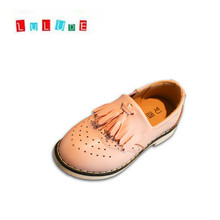 LULUDE Tassels Leather Shoes Autumn of 2016 New Cute Boys and Girls Cotton Baby Breathable PU Shoes Fashion Student Shoes