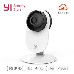 YI Home Camera 1080p Baby Monitor Wireless IP Wifi Security Surveillance System Night Vision Cloud International version (US/EU)