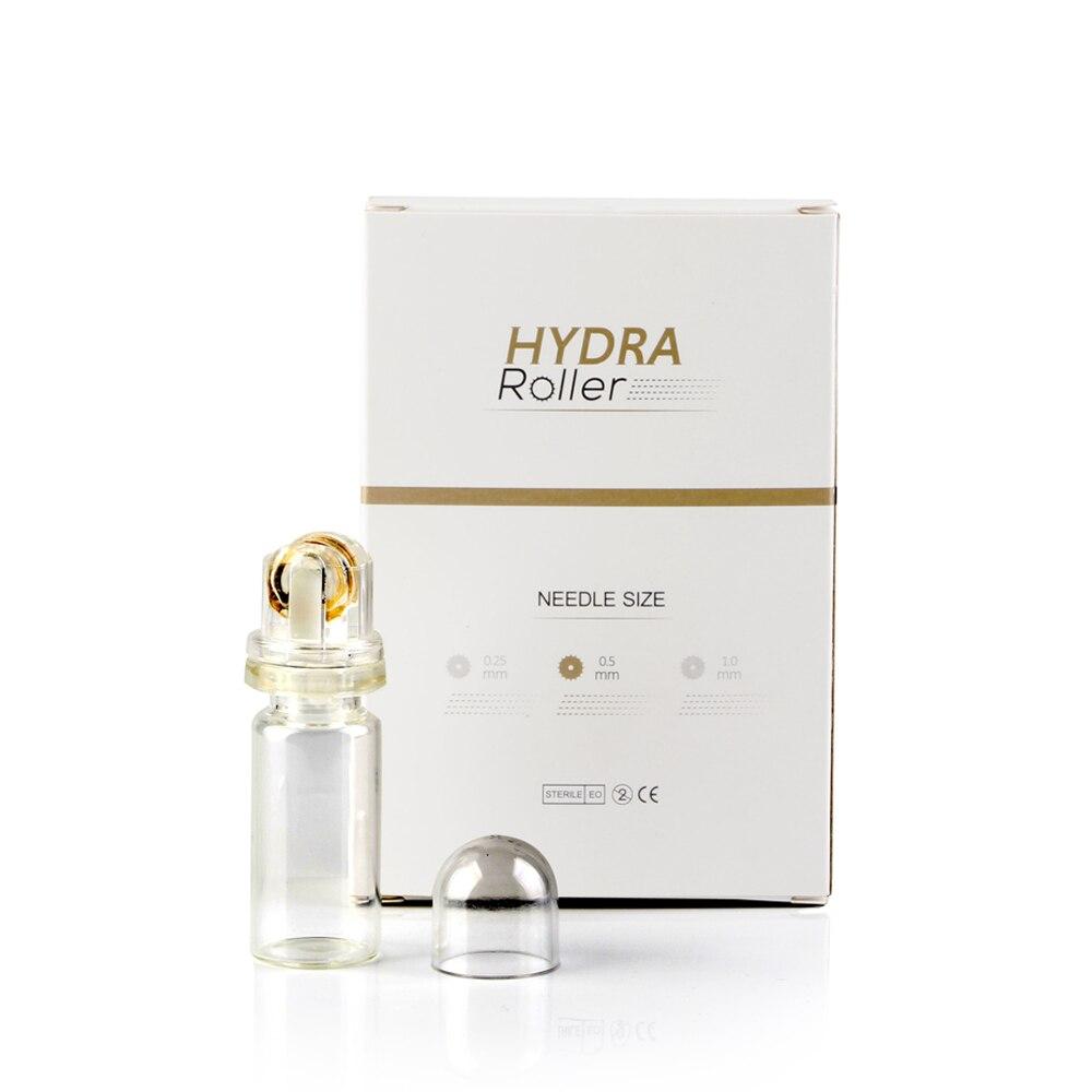 Spedizione Gratuita Hydra Rullo 64 Titanio ago D'oro Punte MezoRoller Bottiglia per la cura Della Pelle Acido Ialuronico Essenza Nuovo rullo di Derma