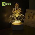 CNHIDEE Novel Engraved Table 3d LED Light Home Decor Fairy Lamp Lakshmi Night Mission Led RGB Tafellamp Lampade Da Tavolo