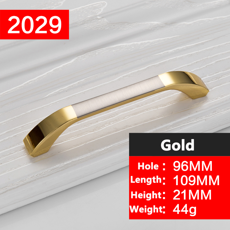 Concise Morden Gold Door Handles Hardware Kitchen Cupboard Cabinet Handles Wardrobe Knobs Drawer Pull drawer handles YJ2029 furniture drawer handles wardrobe door handle and knobs cabinet kitchen hardware pull gold silver long hole spacing c c 96 224mm