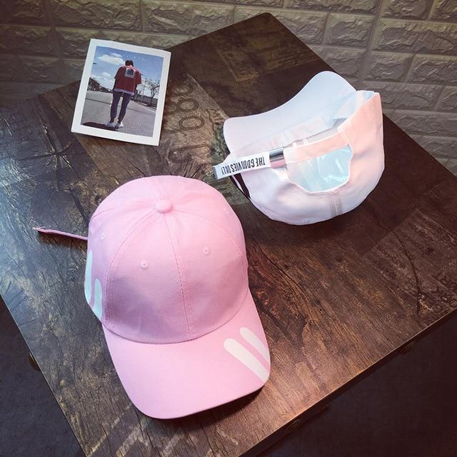 2019 New Hat women Korean couple hip hop baseball caps fashion men youth leisure out sun hat student cap gorra hombre snapback 8