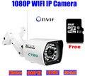 Беспроводная камера видеонаблюдения IP 1080 P HD sony cmos-мегапиксельная 2mp wi-fi безопасности открытый ик-камера onvif система видеонаблюдения камеры 8 ГБ SD карты