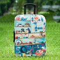 Mytrip Luggage Cover Travel Elastic Polyester Dust-proof Suitcase Cover Zoo Cartoon Printing,  Apply to 20-28inch Cases