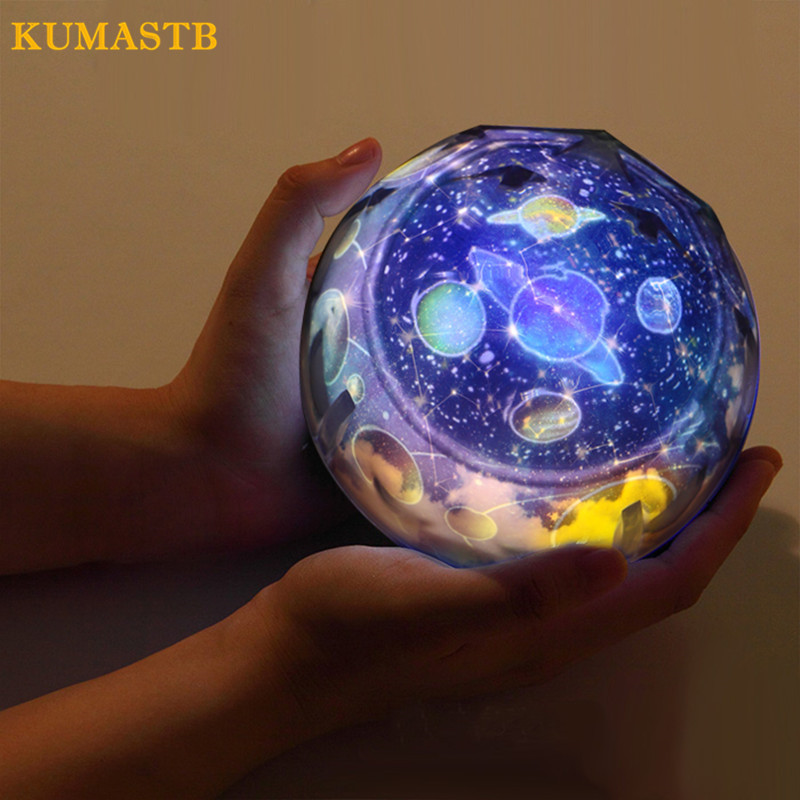 Magic Universe Projection Lamp Creative 3D Starry Sky LED Projector Lamp Colorful Night Light Table Lamp For Kids Christmas Gift