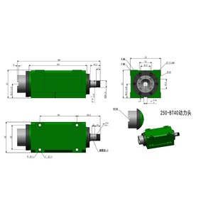 Image 5 - BT40 Chuck 3000W 3KW 4hp Power Head Cutting/Boring/Milling Machine Lathe Tool Spindle Head Max.3000 6000RPM High Speed