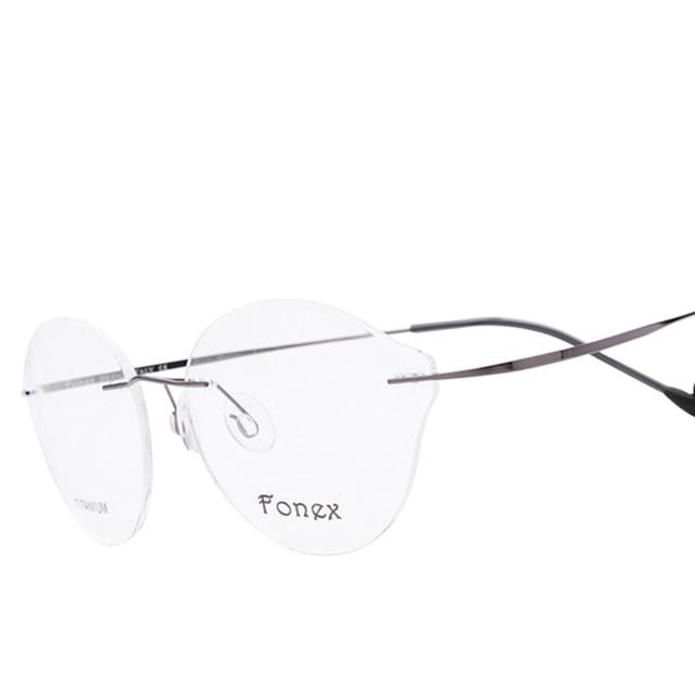 2017 New High Quality Round Rimless Glasses Frames Women Brand ...