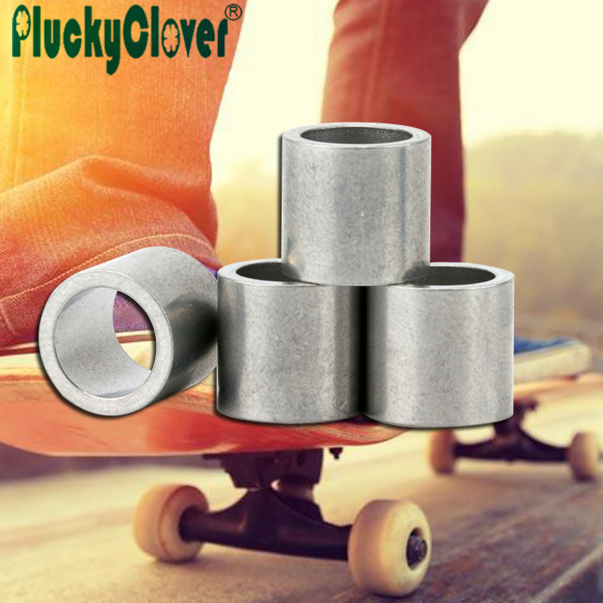 4pcs Black/ Silver Spacers for 608 bearings Spacer Axis Sleeve Speed Kit Spacer Inline Skate Axle Bushing Scooter Roller Spacers