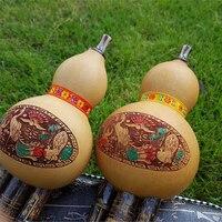 Black Bamboo Cucurbit Flute Chinese Traditional Musical Instrument C Bb Key Hulusi