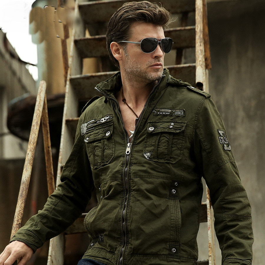 2015 New Fashion Winter Coat Men Jacket Military Army Thickening Casual  Cotton Jackets Outdoors Sport Coats M-XXL 309789514791