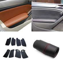 4pcs/set Car Door Armrest Panel Microfiber Leather Protective Cover Interior Trim For VW Golf 6 2010 2011 2012 2013