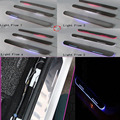 For BMW M6/6/E63 E64/X3 F25/X4 car light LED Moving front door scuff sticker Sill Plate pedal protector styling Wh