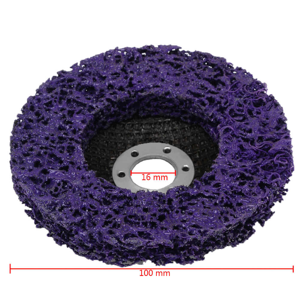 """5x 4/""""inch Black Poly Strip Disc Wheel Paint Rust Removal Clean For Angle Grinder"""