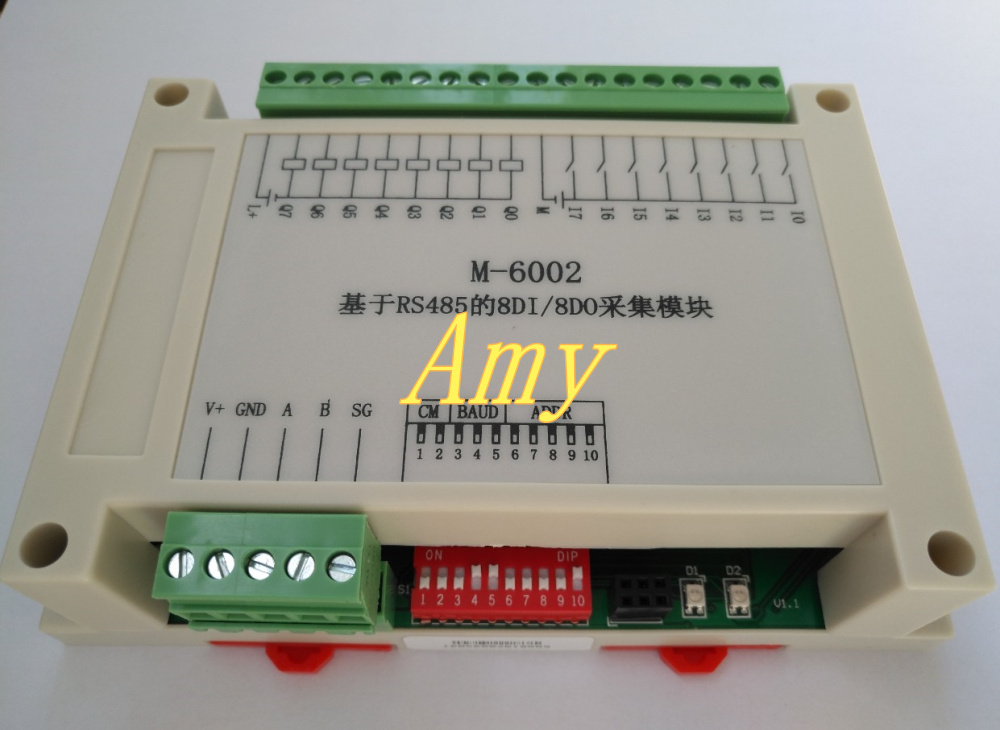 M-6002: RS485 Based 8DI/8DO Digital Input And Output Hybrid Module