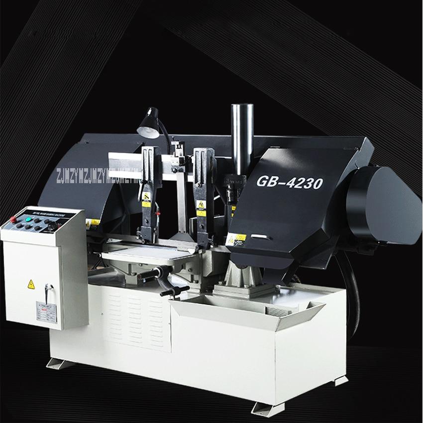 Machine de sciage à bande métallique semi-automatique GB4230 Machine de sciage à bande horizontale à colonne unique de haute qualité 380 V 3KW (450*320mm)