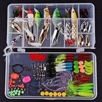 Fishing Lures Mixed Hard/Soft Baits Popper Baits Fishing Floats Fish Lures Hooks Kit Set Tackle with Box
