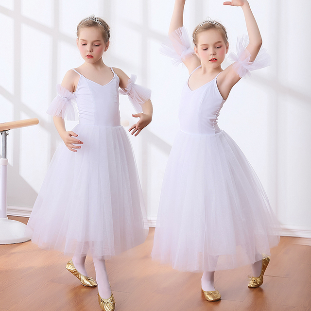 guapo venta de bajo precio calidad y cantidad asegurada Nuevas faldas tutú de Ballet para niñas Giselle Swan blanco estilo  romántico largo baile disfraces bailarina vestido