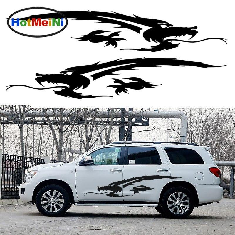 HotMeiNi 2X ancien Dragon chinois sacré Totem rugit en avant Art voiture autocollants camping-Car voiture style vinyle décalque 10 couleurs