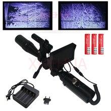 Горячее предложение Снайпер Открытый Охота оптика ночного видения винтовка Scope тактический прицел с Батарея Зарядное устройство ЖК-дисплей and ИК фонарик