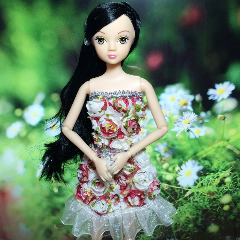 New handmake marriage ceremony Gown Trend Clothes Robe For Barbie doll Free transport