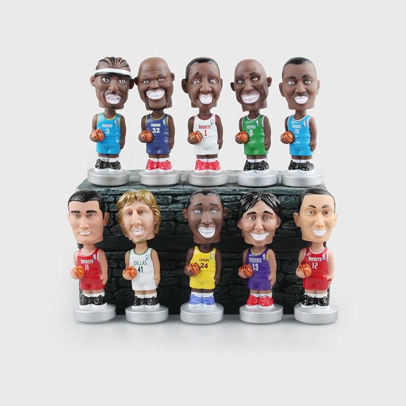 Hot sale BasketballNBA Star Action Figure High Quality Bobblehead PVC Model Toys Collections Dolls 10.5 CM Christmas Gift Boys
