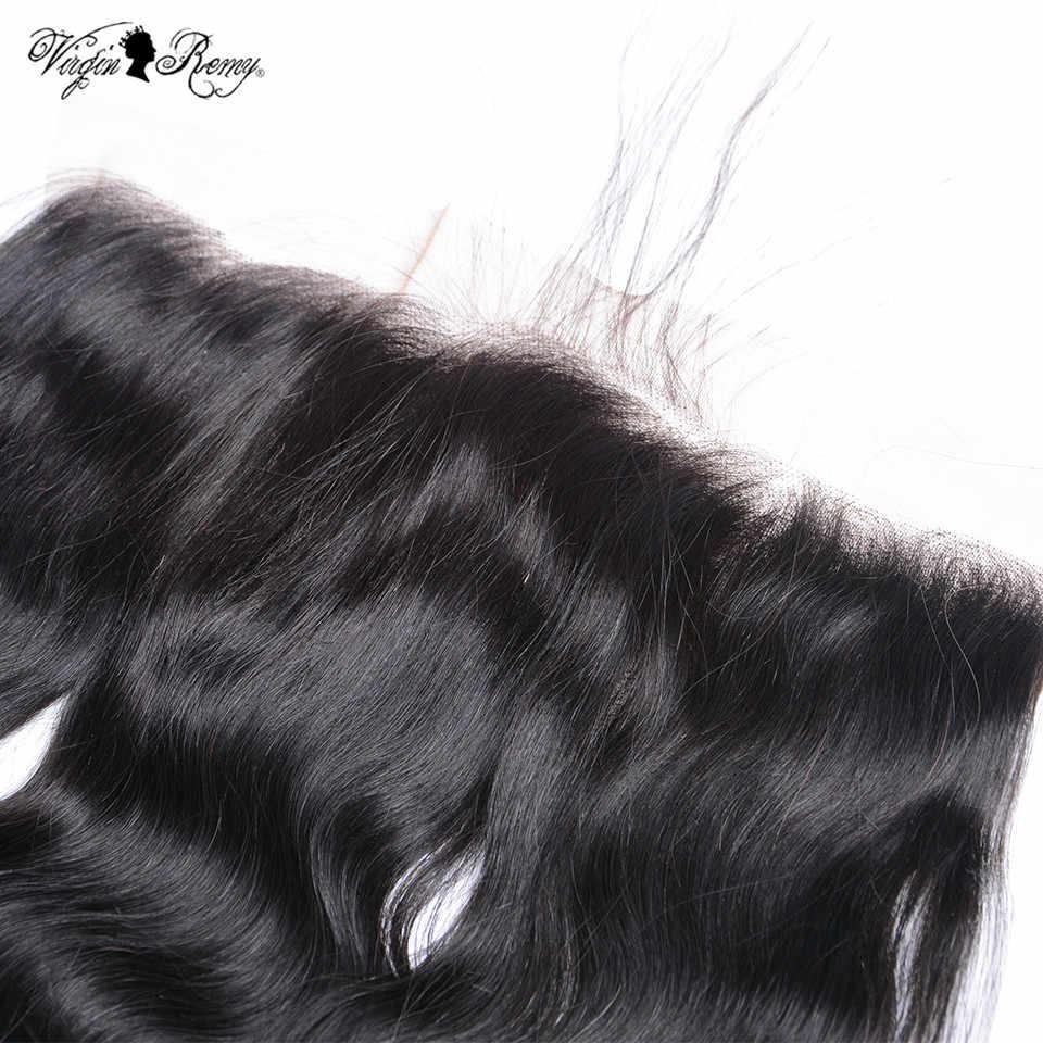 Королевские виргинские волосы remy малазийские волнистые волосы для тела кружевная Фронтальная застежка свободная часть 13*4 уха к уху человеческие волосы кружева закрытие натуральный цвет