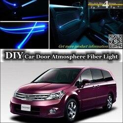 Dla Nissan Presage U30 U31 wnętrze Ambient Light Tuning atmosfera światłowód zespół światła wewnątrz drzwi oświetlenie panelu