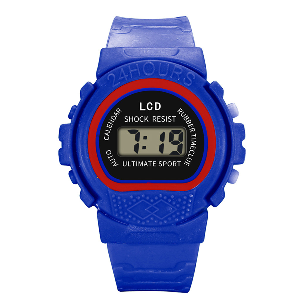 Watch Children Girls Analog Digital Scale Sport LED Electronic Silicone Mould Waterproof Wrist Watch New  C0604