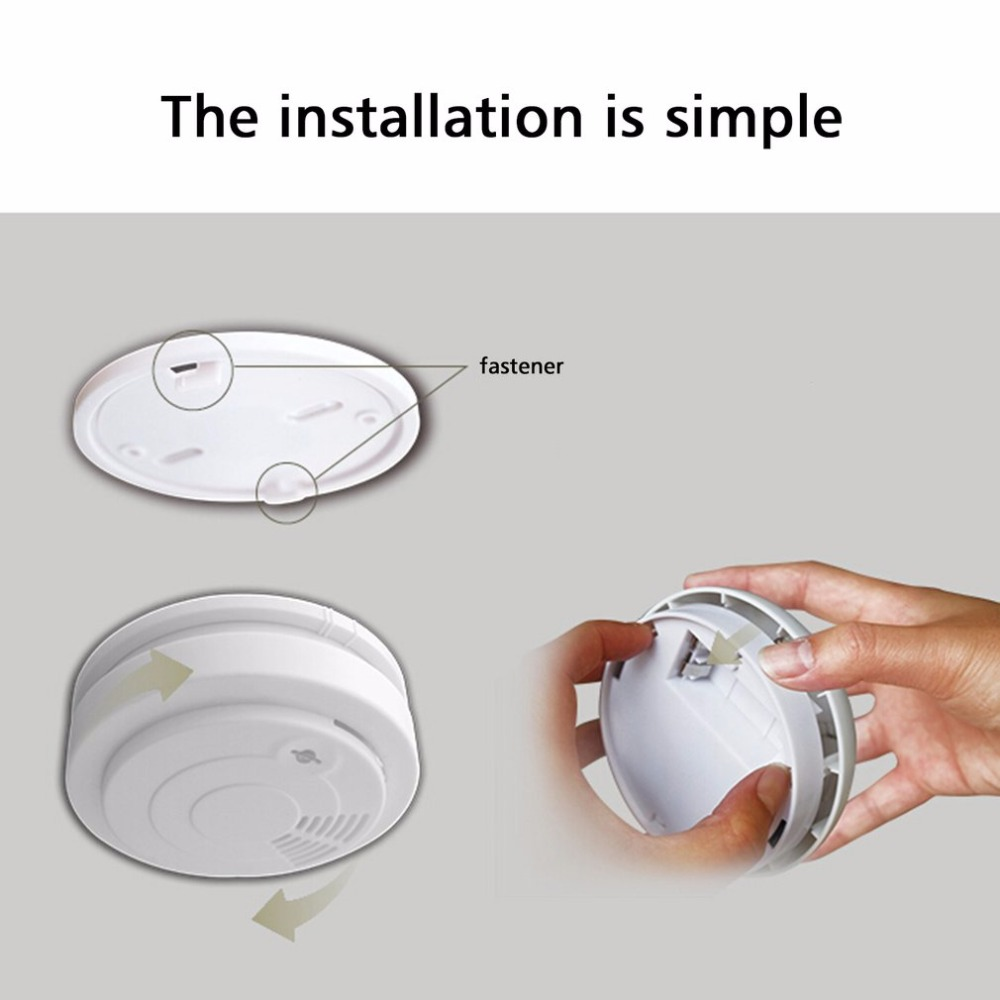 Mini Portable CD3 Smart Wireless Smoke Detector Fire Alarm Linked With Alarm System Detectors For Home Security wireless smoke fire detector for wireless for touch keypad panel wifi gsm home security burglar voice alarm system