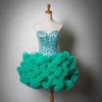 In magazzino 2016 Nuovo Incredibile Vestito Da Sposa Abito Da Sera Corto Disegno Lace Up Prom Dresses Nero/Blu/Rosso/Champagne/Colore Rosa/Viola