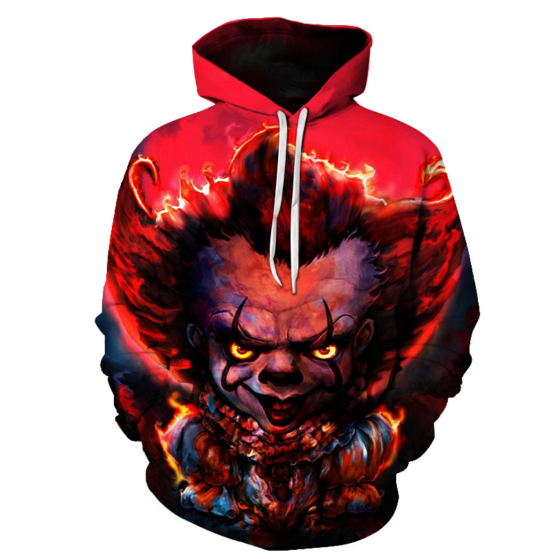 Brand New Designer Japanese Chinese Style Hoodies Streetwear Sweatshirt Hooded Hip Hop Evil Devil Printed Hoody Clothing Men