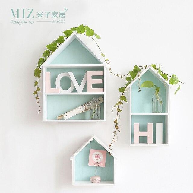 Mintgroen Accessoires Huis.Miz Thuis 1 Stuk Mintgroen Huis Vorm Opslag Board Creatieve