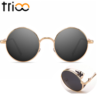 TRIOO Silver Mirror Women Sunglasses Super Cool Reflective Lens Shades 2017 New One Piece Designer Female