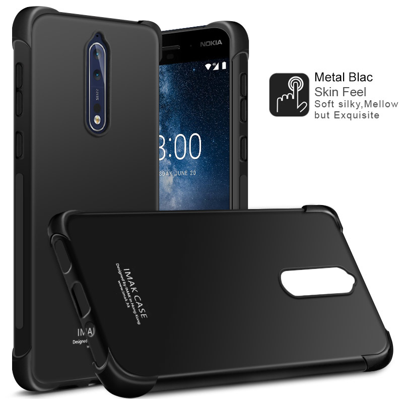 IMAK sFor Nokia 8 Case Shock-resistant Shockproof Silicone Soft Transparent TPU Cover Case For Nokia 8
