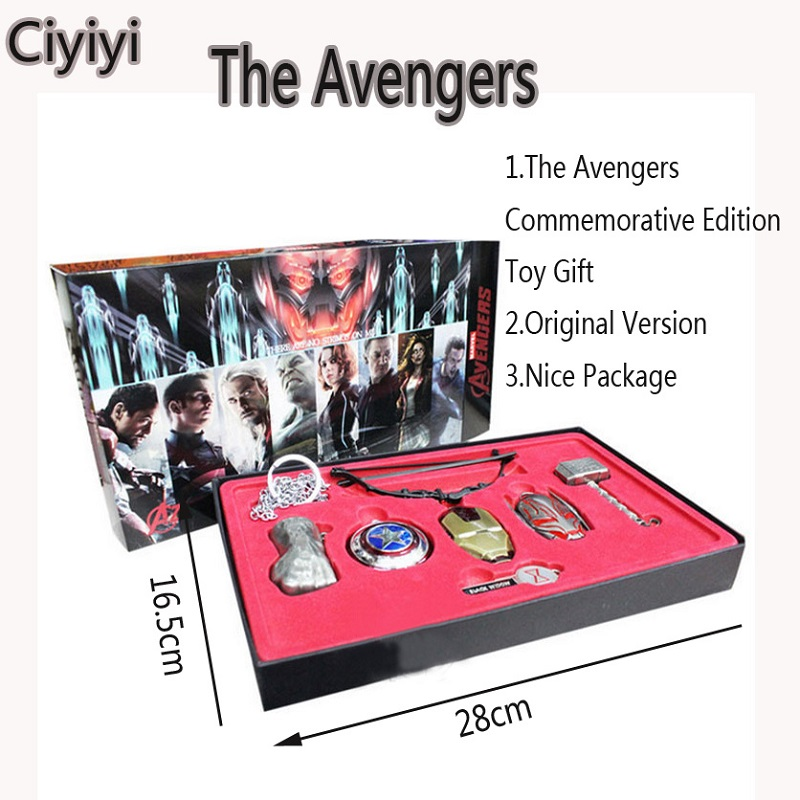 Marvel The Avengers 8pcs/set Age of Ultron Hero Weapon Collection Toy The Avengers Cosplay Weapons&Decoration Toy Birthday Gift the fourth hokage yondaime minato kunai knife weapon outdoor toy new uzumaki naruto hokage cosplay weapon toy kids birthday gift