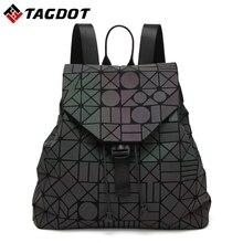 Neue Mode blitz Leucht BaoBao rucksack weiblichen Girl Täglich rucksack Geometrie Akkord Faltung Taschen schule rucksäcke Mit logo