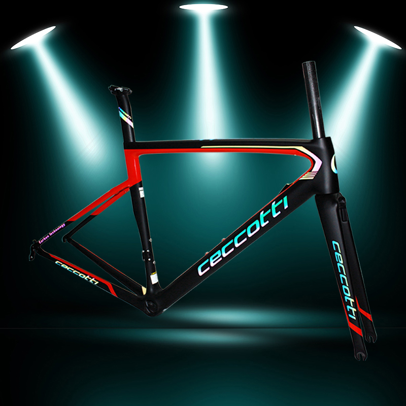 Ceccotti brand carbon road frame reflective carbone route 2018 T1100 new model UD bike frame 44