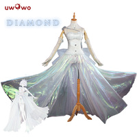 UWOWO Diamond Houseki no Kuni Косплей земля блестящего костюма Doujin версия алмазное Платье Аниме Houseki no Kuni Косплей