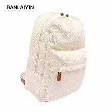 Модные милые девушки кружева холст рюкзак сумка школьная сумка рюкзак Белый