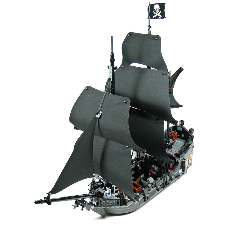 DHL Free 2017 804PCS 16006 Pirates of The Caribbean The Black Pearl Ship Building Model Block Set Toys Clone 4184 bricks friends 2018 dhl lepin 16006 pirates caribbean ship the black pearl 16009 queen anne s revenge pirate ship building blocks set